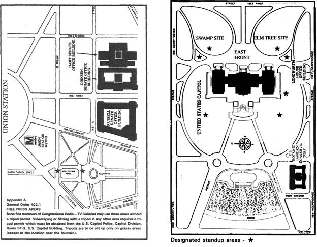 Rules For Electronic Media Coverage Of Congress Radio TV Gallery - Us capitol grounds map